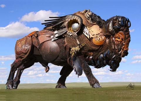 金属动物雕塑