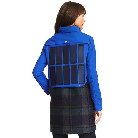 带有太阳能充电板的外套