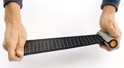 卷轴式太阳能充电器