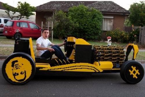乐高积木汽车 可上路行驶