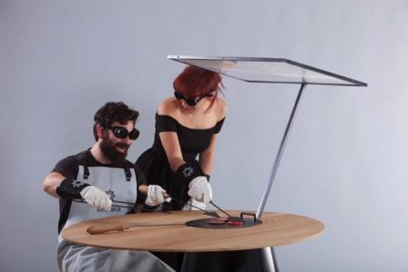 纯天然太阳能烧烤桌