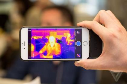 超酷iPhone配件 红外线夜视仪