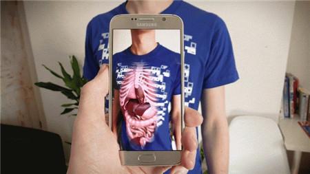 "Virtuali-tee 可""透视""器官的T恤"