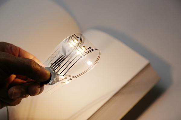 带LED灯的轻薄书签