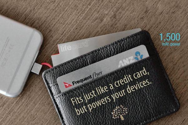 Lifecard 薄到能放进钱包的充电宝