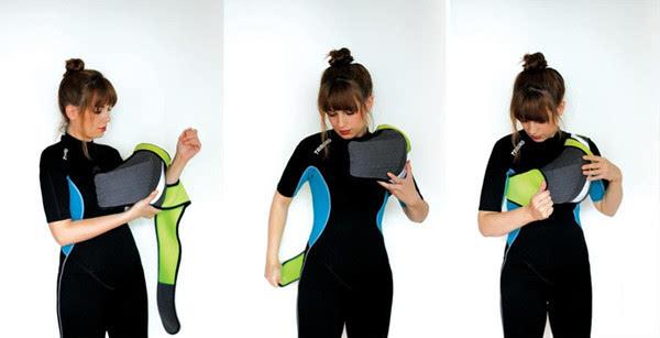 轻便可穿戴的救生衣IUW 不会妨碍游泳动作的伸展