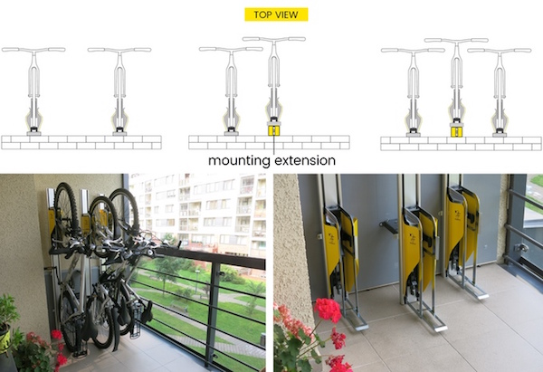 自行车竖放装置 可节省40%空间