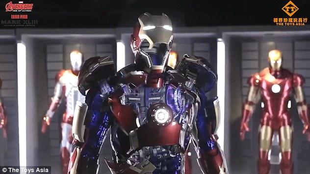 漫威官方正版钢铁侠可穿戴盔甲面世 售价250万人民币!