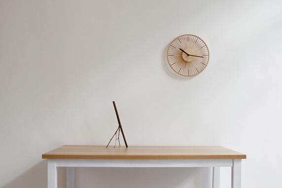 5个步骤完成的挂钟,传统竹丝工艺颠覆了你对时钟的认知