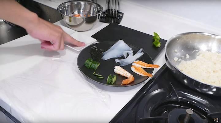 活灵活现的锦鲤寿司【视频】