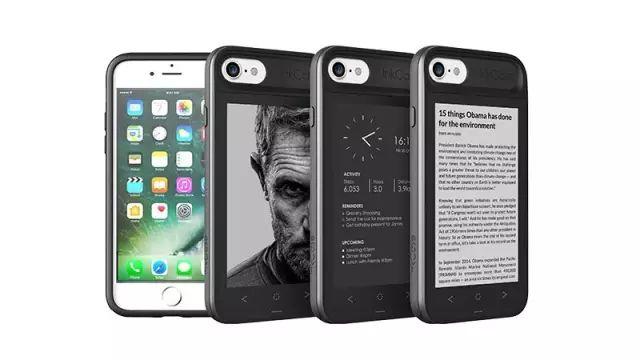 让iPhone拥有两个屏幕的手机壳,一个还是kindle!