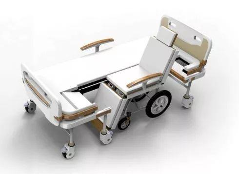 可以分离出一张轮椅的病床