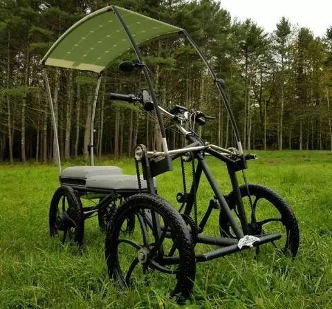 这款太阳能驱动的电动踏板车,还能折叠!-创