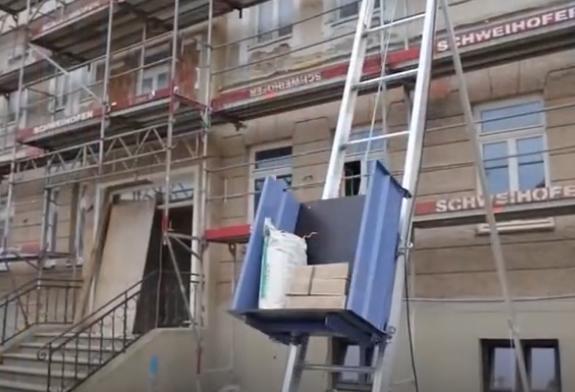 德国GEDA运输电梯,可轻松将大件物运输到高楼层