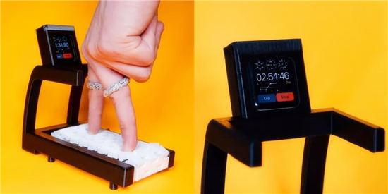 看看国外大神的沙雕发明 手指跑步机