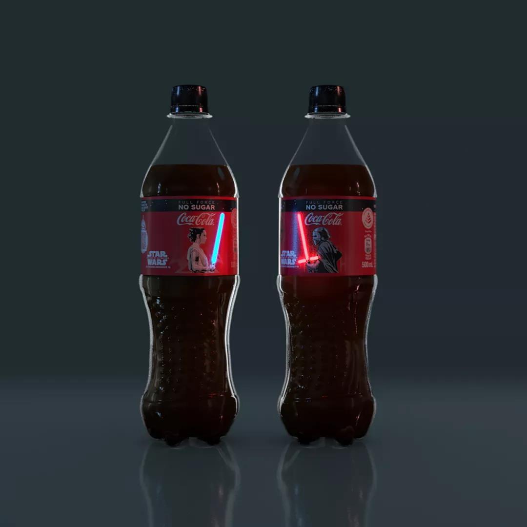 星战联名可口可乐,全球限量8000瓶,触摸瞬间亮了