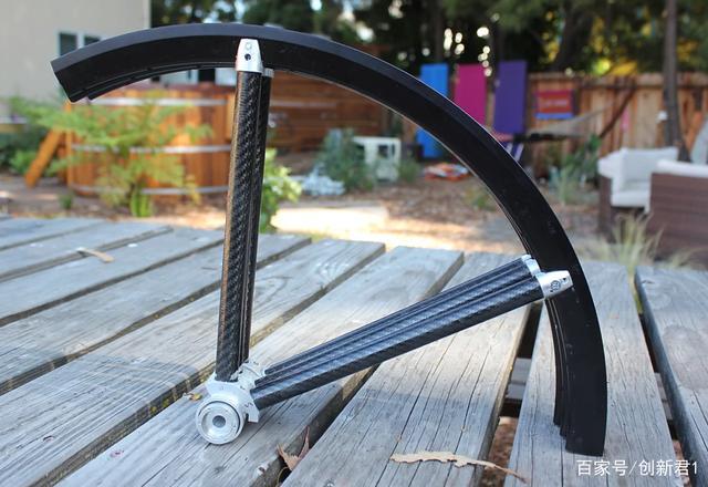 轮子也能折叠的自行车,你见过吗?