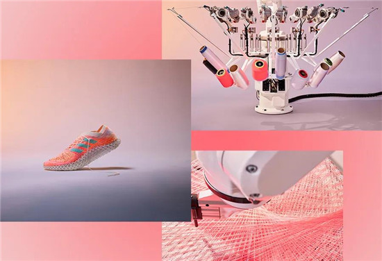 阿迪达斯创新性鞋面编织技术 2000根编织线构成网格鞋面
