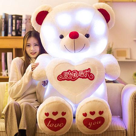 1.4米高可发光毛绒泰迪熊