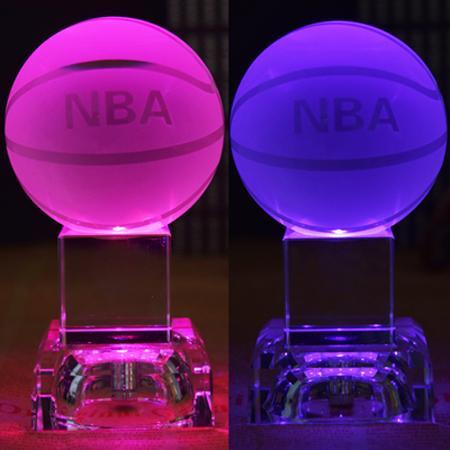 篮球或足球水晶摆件