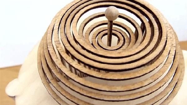 """牛人用圆木环做成的""""水滴""""效果"""