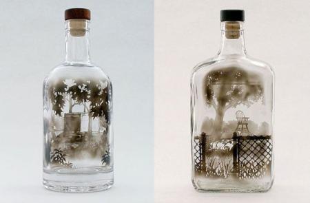 玻璃瓶烟熏艺术
