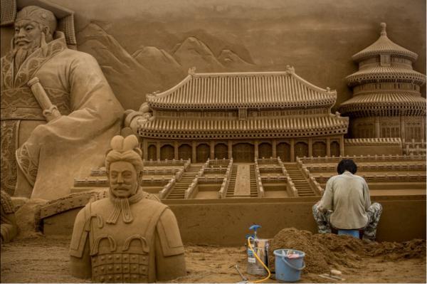 日本沙雕艺术展 非常壮观