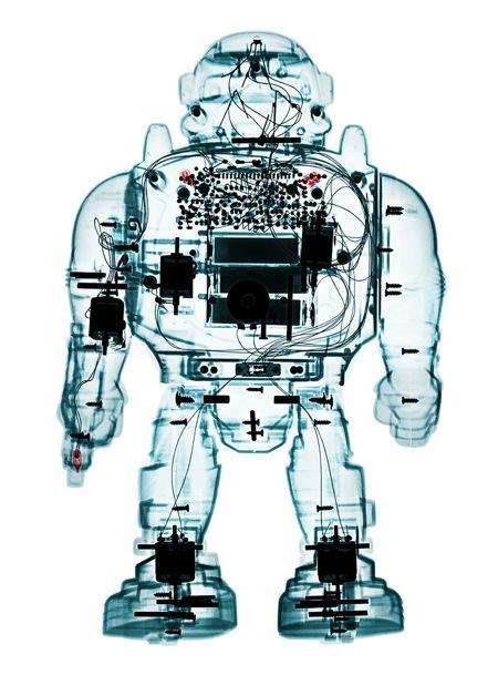 X射线下的玩具