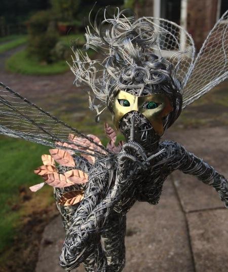 精湛的铁丝艺术雕塑