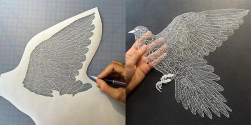 精致的白纸雕刻