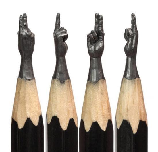 铅笔尖雕塑