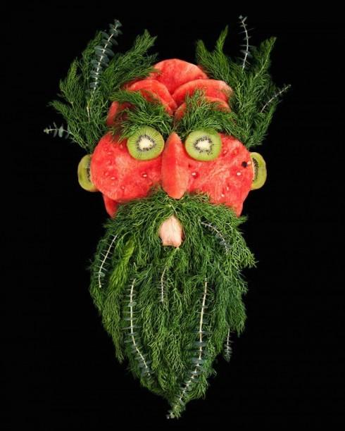 新鲜水果蔬菜人脸艺术