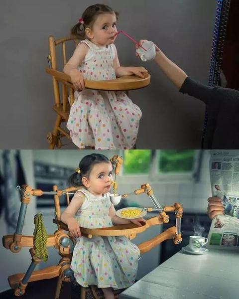 有个会PS会摄影的爸爸就是不同!