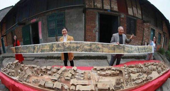 老人花12年雕刻出立体清明上河图