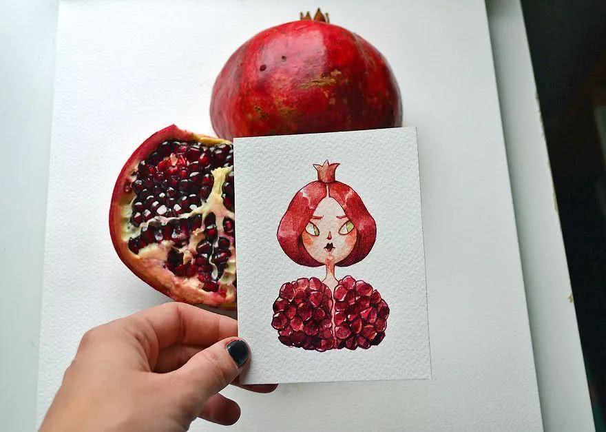 当水果蔬菜遇上插画