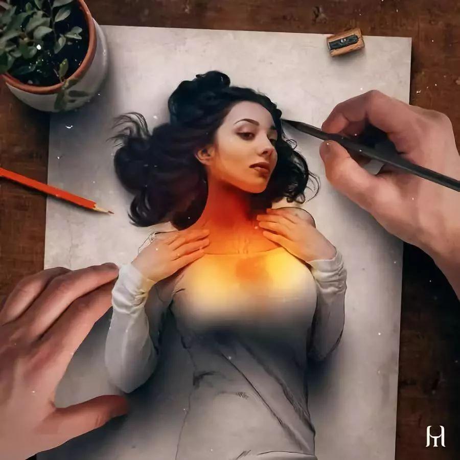 令人惊叹的3D绘画,给人一种呼之欲出的视觉感受