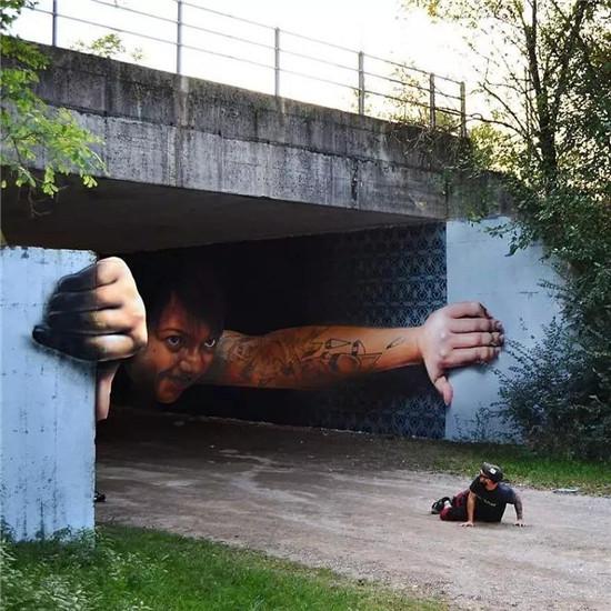 意大利艺术家有趣的3D街头涂鸦